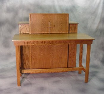 Traditional Style Pulpits, Communion Tables and Ministers Chairs